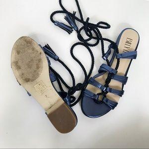 8f2a72302426 Anthropologie Shoes - Anthropologie Blue Billy Ella Gladiator Sandals